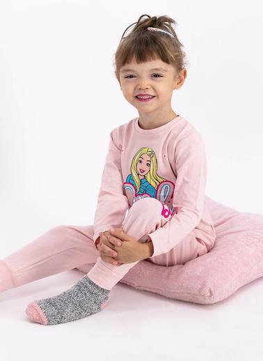 Barbie Pijama Takım Pembe